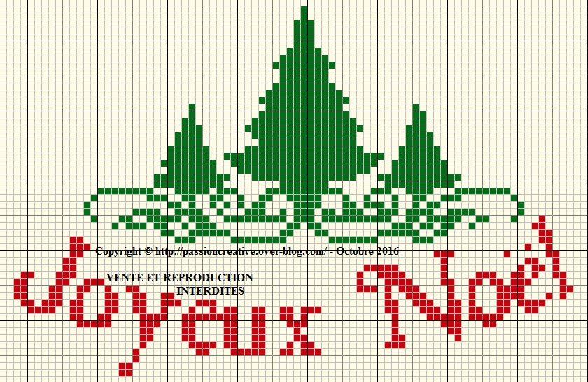 Grille gratuite point de croix : Joyeux Noel et sapin 1 | Arbre point de croix, Point de croix ...