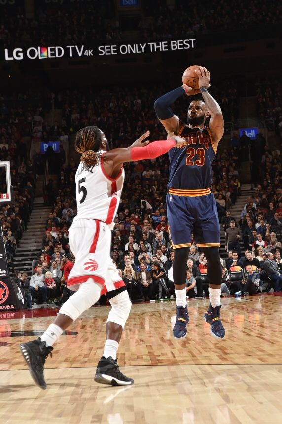 LeBron James  23 of the Cleveland Cavaliers goes up for a shot during a  game against the Toronto Raptors on December 5 cc83eb9ad