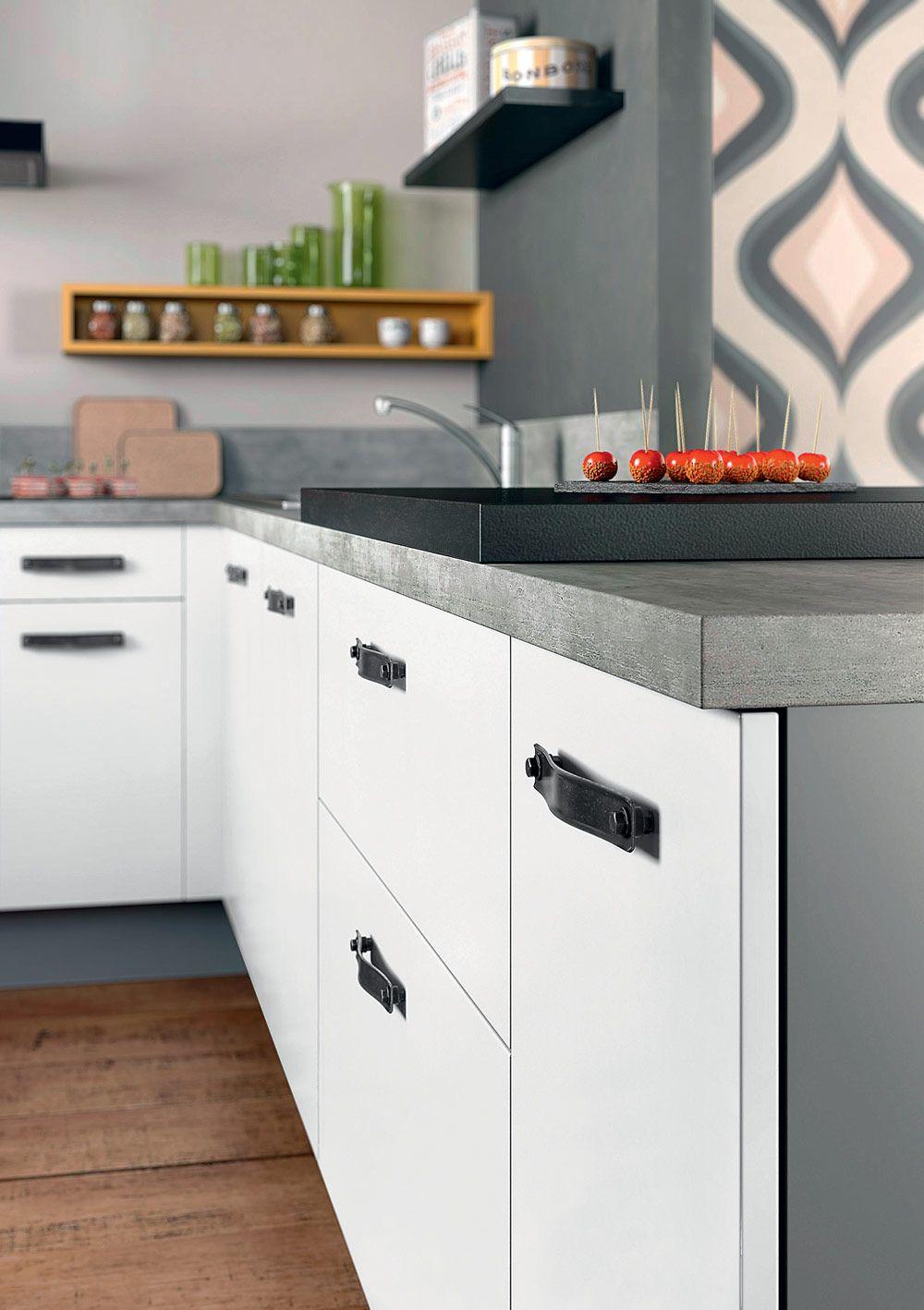 Poignée De Porte Cuisine Design facto, des poignées noires idéales pour un look industriel