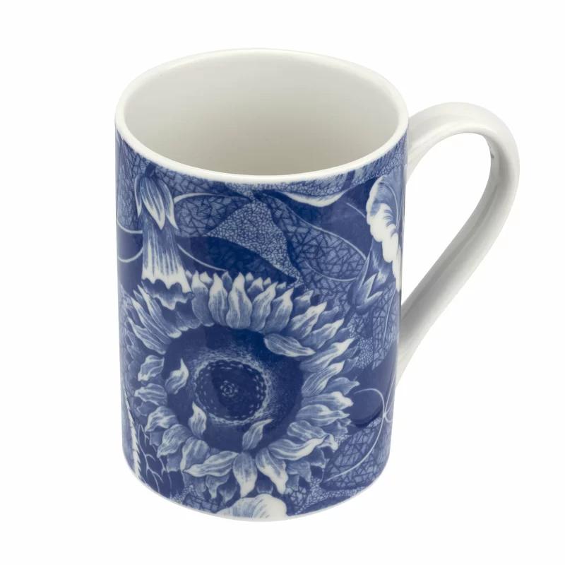 Blue Room Sunflower Coffee Mug In 2021 White Coffee Mugs Mugs Spode