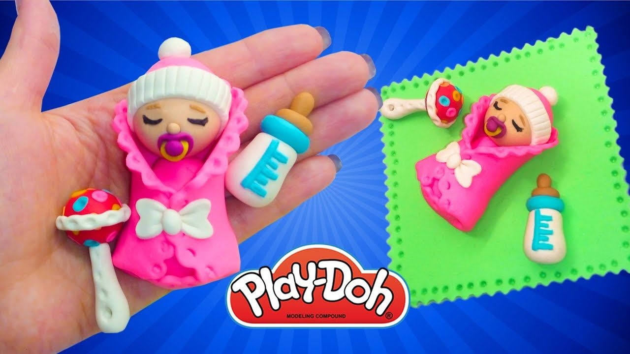 Play Doh Newborn Babydoll How To Make Baby For Doll Diy Miniature Baby Play Doh Play Doh For Kids Diy Baby Carrier