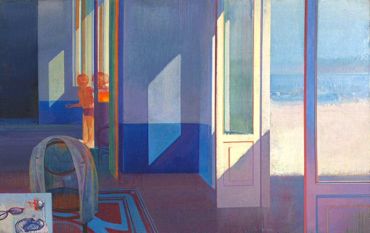 "Leonardo Cremonini (Italian, 1925-2010), Le soleil indiscreet, 1985-1987. Tempera and oil on canvas, 48 ½"" x 76 ¾"