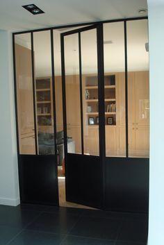 Smeedijzer glazen deur loft google zoeken glazen deur - Glazen salontafel en smeedijzer ...