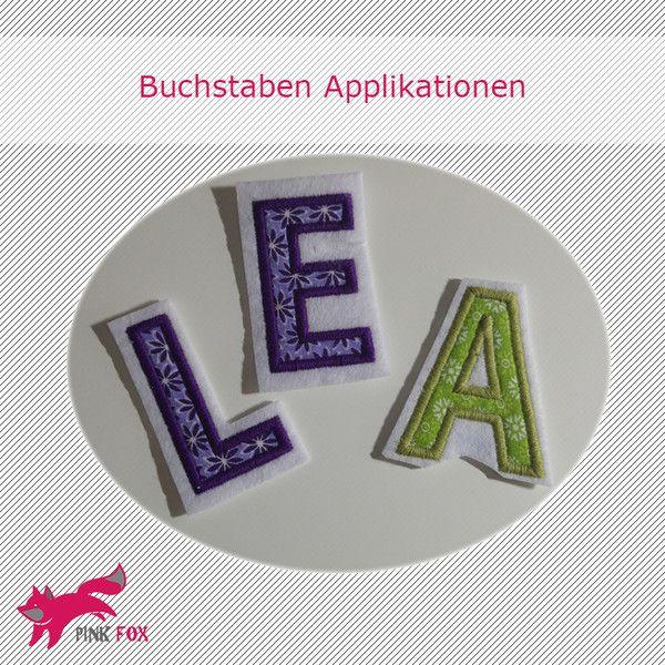 Stickapplikationen - Applikation Buchstabe zum Aufnähen, 5cm hoch - ein Designerstück von Miriam-Kury bei DaWanda