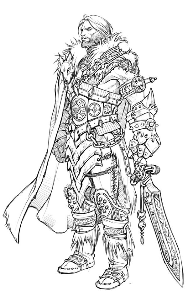 Concept Art / Costume Design for a computer game