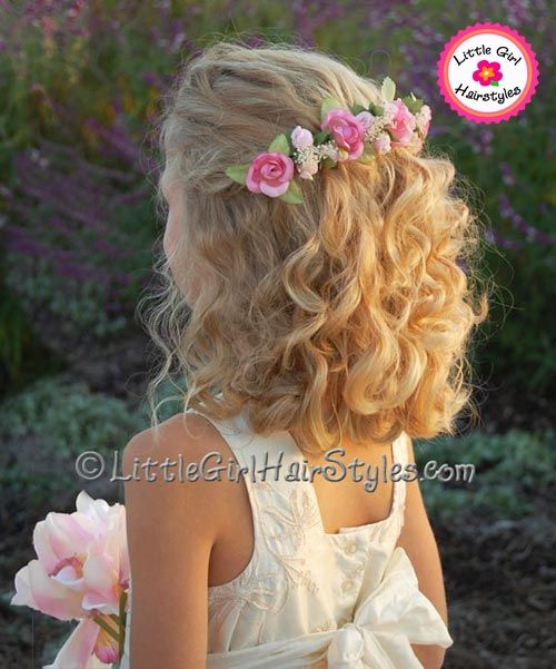 Enjoyable 1000 Images About Flower Girl39S Hairstyle On Pinterest Curly Short Hairstyles For Black Women Fulllsitofus