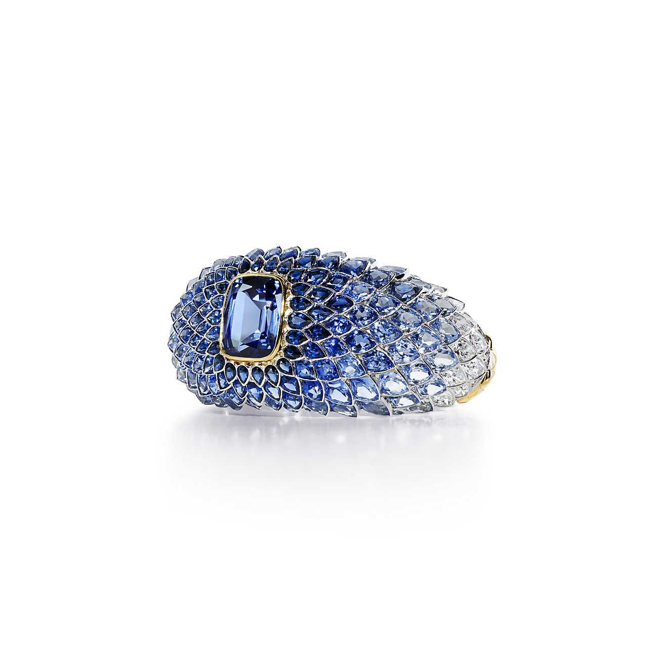 The art of the seablue spinel scales bracelet bracelets cushion