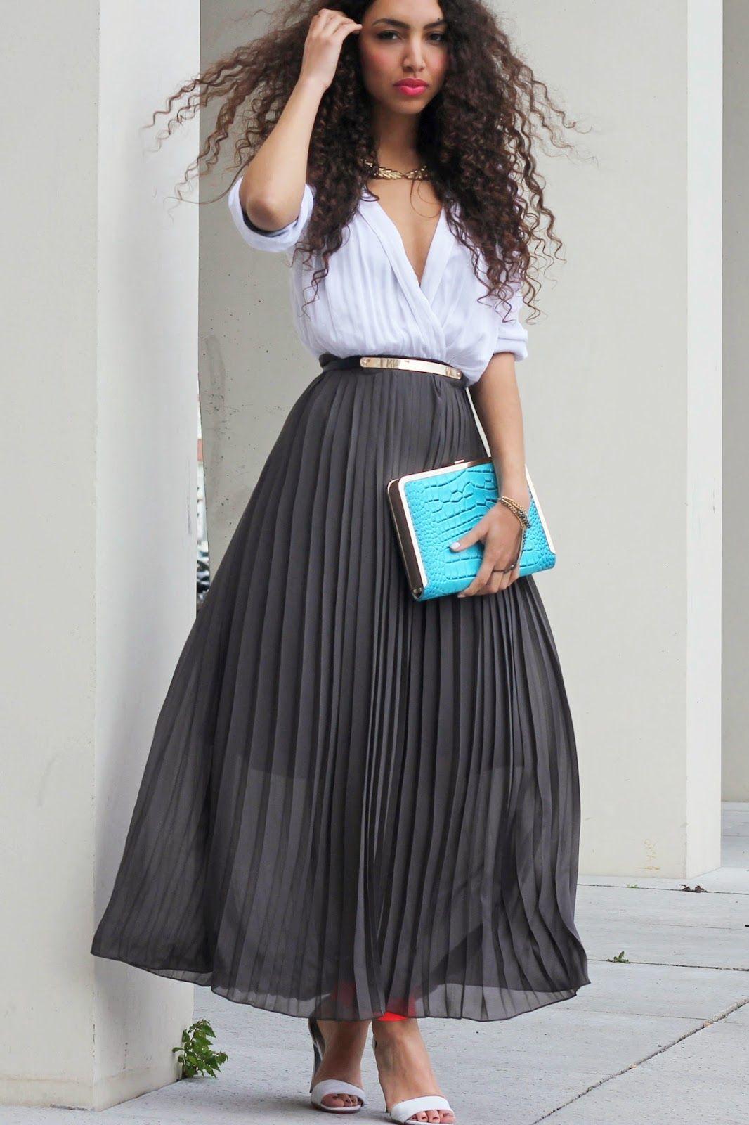 Summum maxi skirt, Inlovewithfashiondress as top, H&M