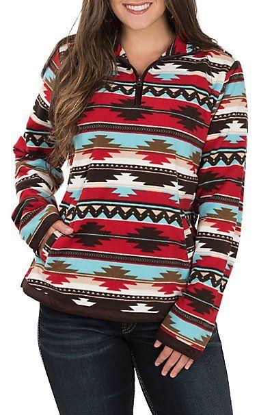 419964a718d Outback Trading Company Women s Aztec Fleece Dawn Pullover ...