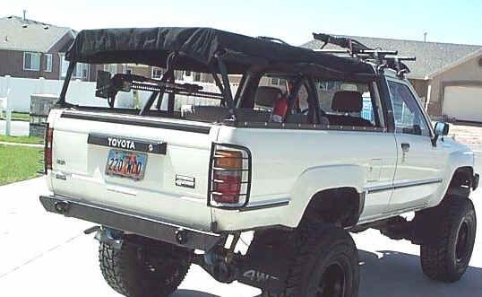 Bed Rack W Homemade Canvas Camper Over It Homemade Canvas Truck Bed Covers Tacoma Truck