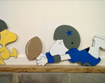 snoopy and woodstock football yard or wall art decoration
