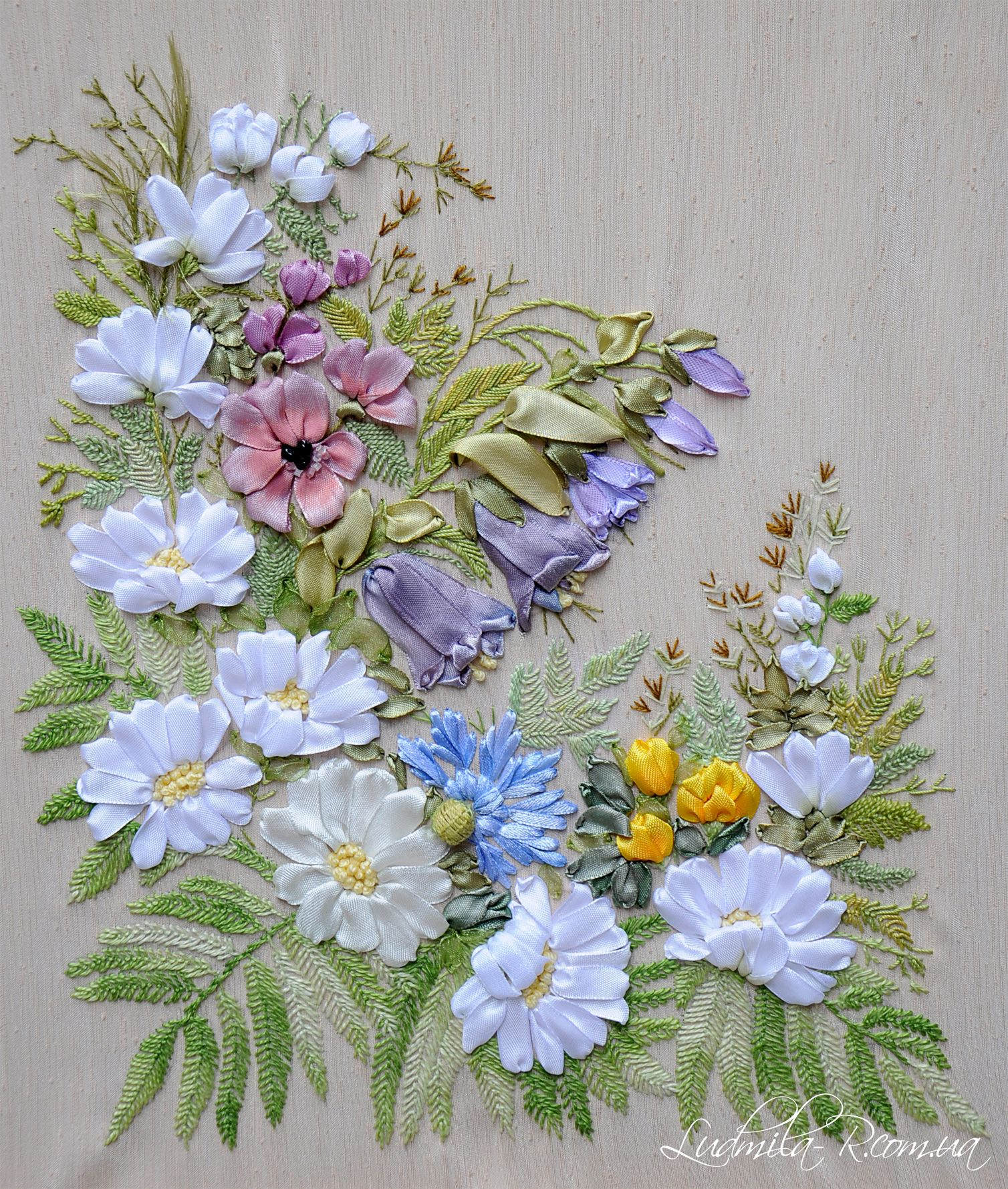Ribbon embroidery by ludmila r ludmilar needle