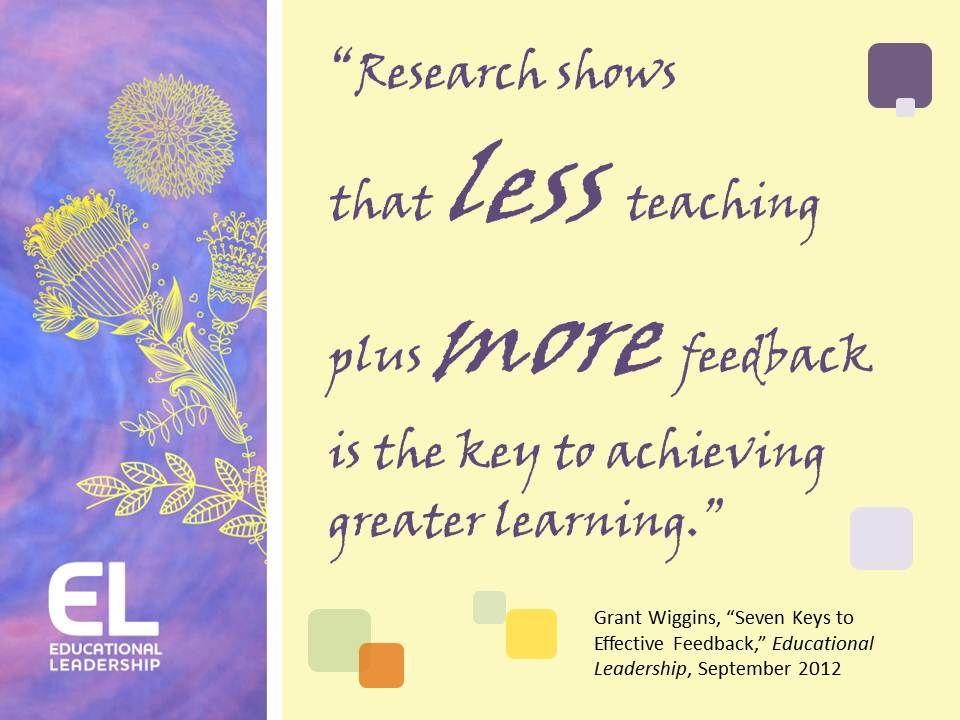 Grant Wiggins, u201cSeven Keys to Effective Feedback,u201d Educational - copy meaning of blueprint in education
