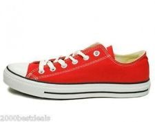 4f138966c2f5 CONVERSE CHUCK TAYLOR ALL STAR LOW TOP RED CANVAS STYLE M9696 MEN SIZE  SNEAKERS