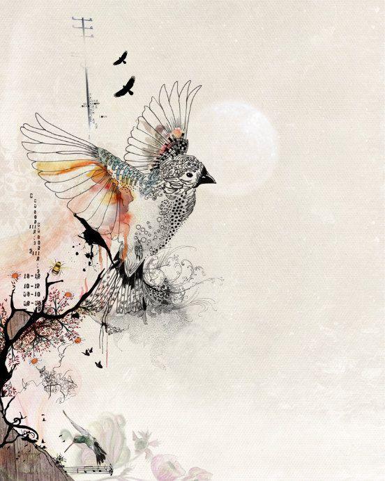 Watercolor Painting, Bird Wall Art, Original Drawing, Bird ...