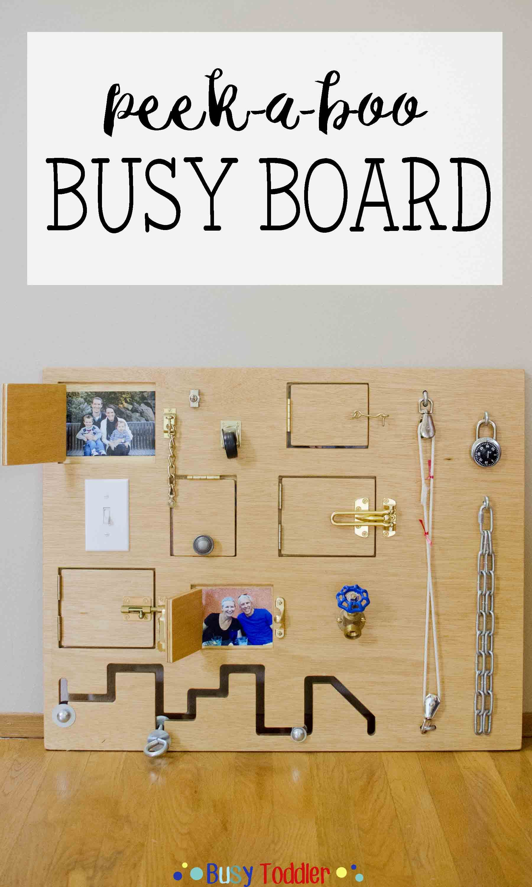 Toddler Busy Board A Fantastic Diy Toy Perfect For Babies