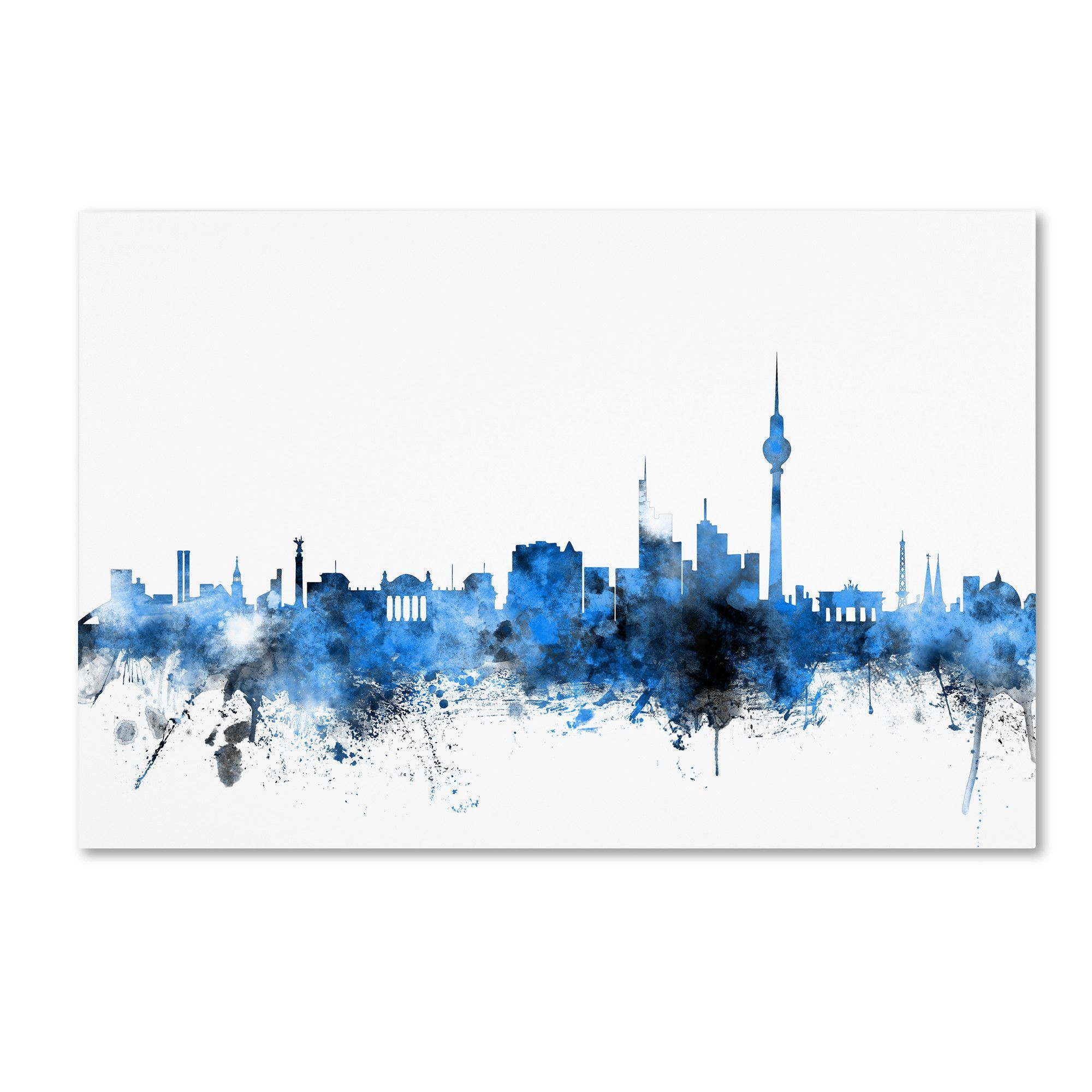 Berlin Germany Skyline by Michael Tompsett Graphic Art on Wrapped Canvas
