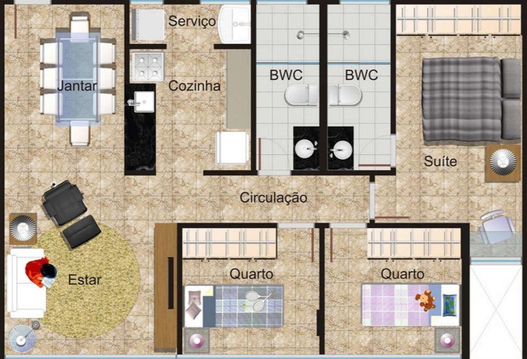 Planos De Apartamentos Pequenos Rectangulares Diseno De
