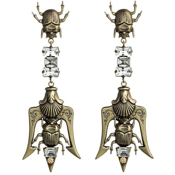 DANNIJO Madagascar Earrings (€325) ❤ liked on Polyvore featuring jewelry, earrings, accessories, brincos, dannijo, earring jewelry, brass jewelry, long earrings, oxidized brass jewelry and earrings jewellery