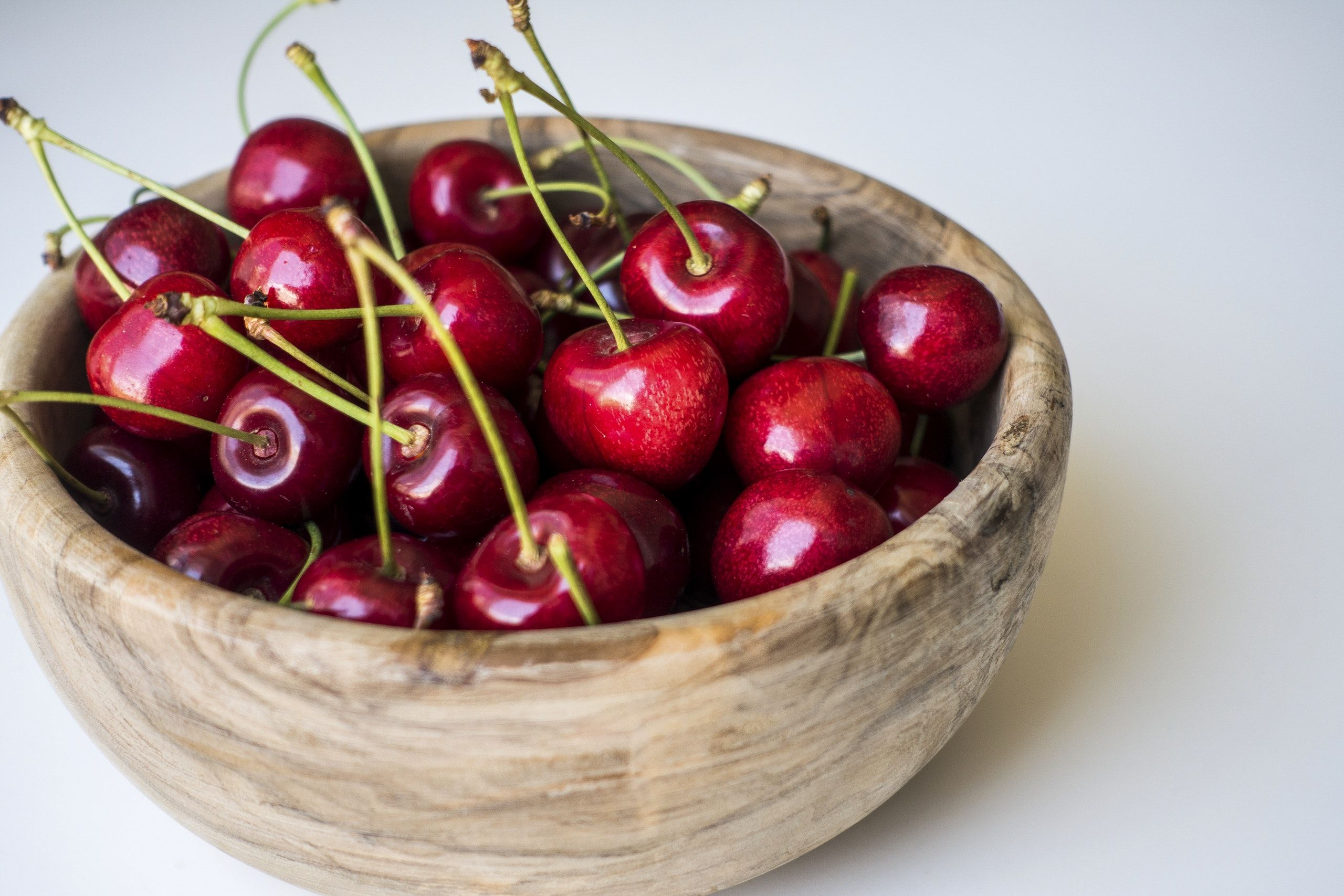 Fresh Cherries In A Bowl Free Image By Rawpixel Com Jakub Kapusnak