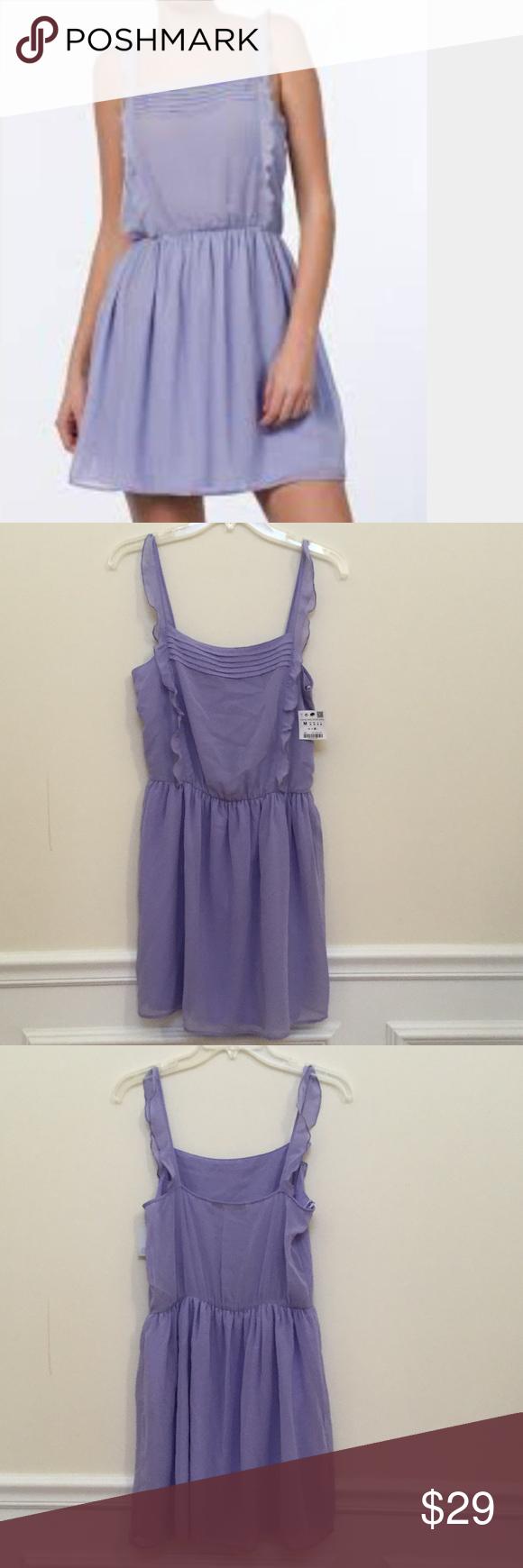 NWT ZARA LIGHT PURPLE CHIFFON DRESS SIZE M Beautiful light purple ...