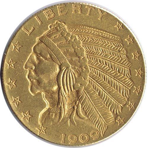 Moneda De Oro 5 Dolares Estados Unidos