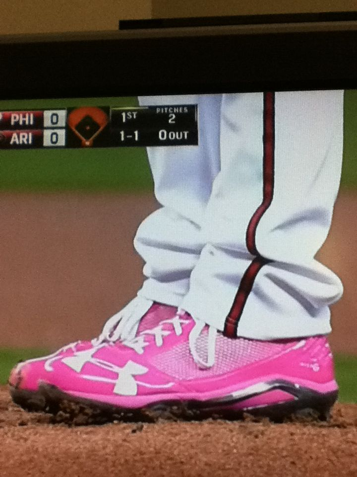 f086f0128156 Pink spikes from Under Armour for mothers day | Baseball | Sneakers ...