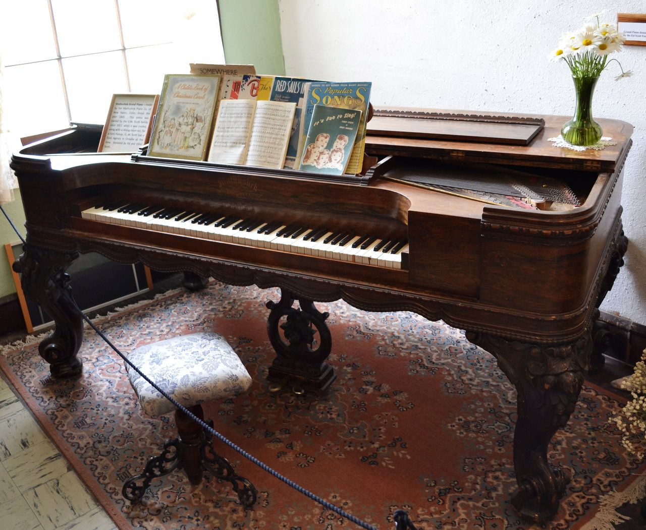 At one time I had thought of an antique square piano but I