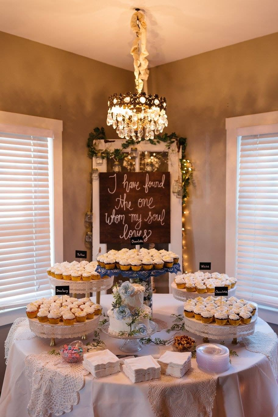 Wedding Cupcake Display I Have Found The One Whom My Soul Loves