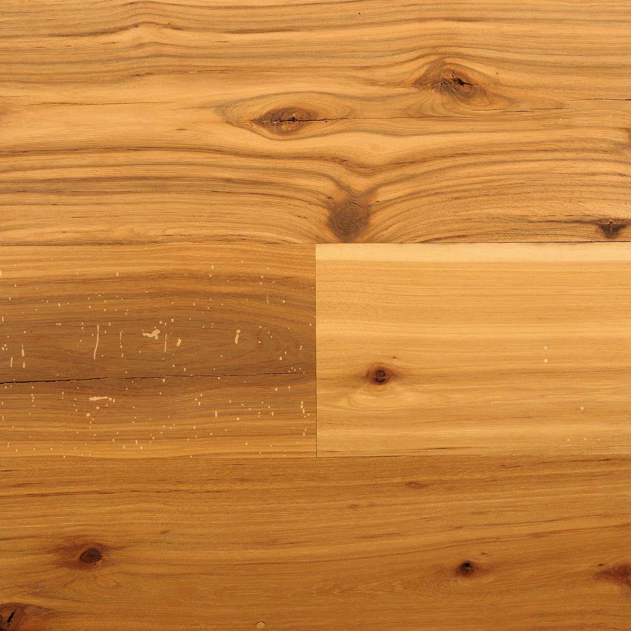reclaimed antique random width hickory boardwalk hardwood floors - Tetris Planken