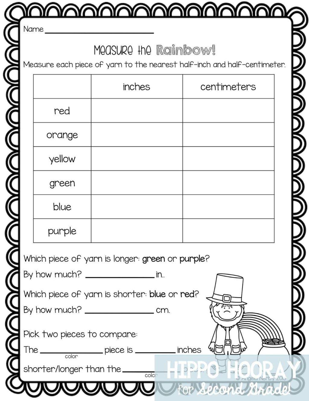 Measurement Worksheet 2nd Grade In 2020 Measurement Worksheets Math Freebie 2nd Grade Math Worksheets