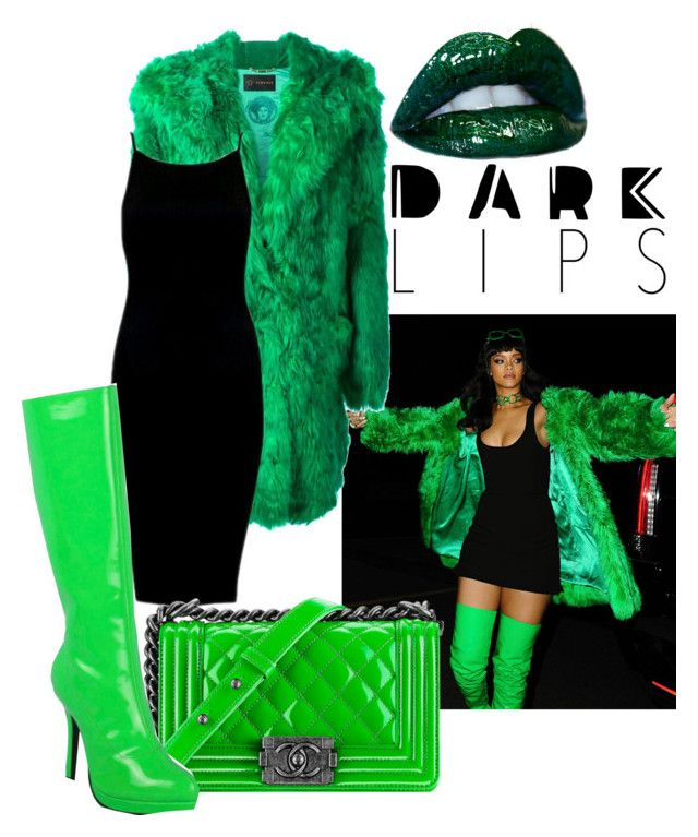 """""""Greenery"""" by emeraldz ❤ liked on Polyvore featuring beauty, Versace, Chanel and Ellie"""
