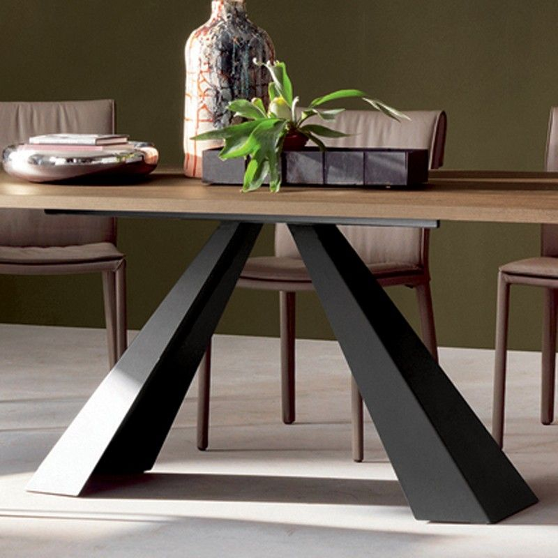 cattelan italia eliot wood drive extending dining table