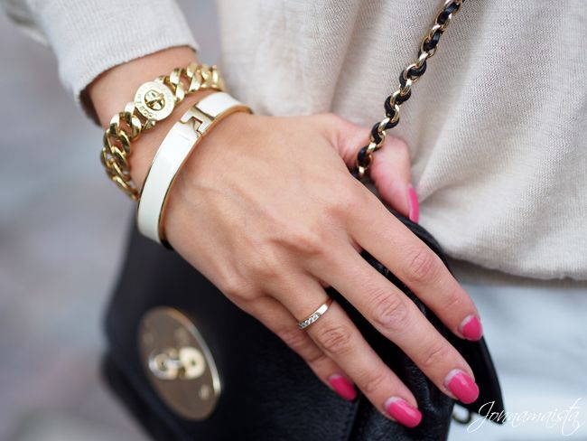 Golden jewellery and Mulberry Lily