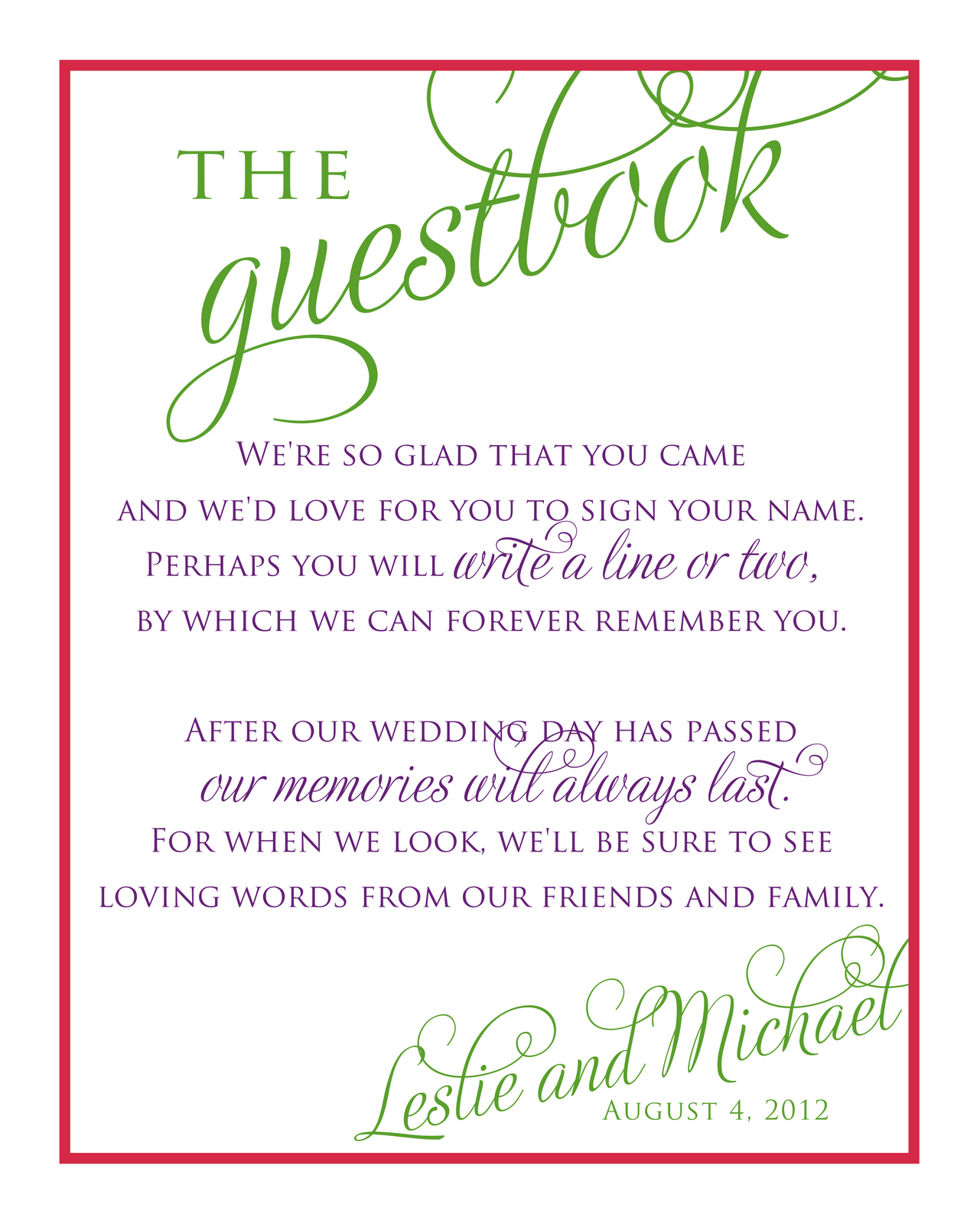 printable guest book template cefeq lovely guest book sign wedding