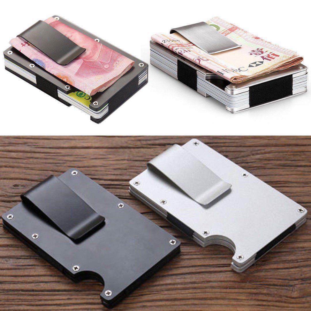 fdb8d3f46407ab Stainless Steel Men Money Clip Elastic Band Slim Credit Card Holder Wallet  Purse