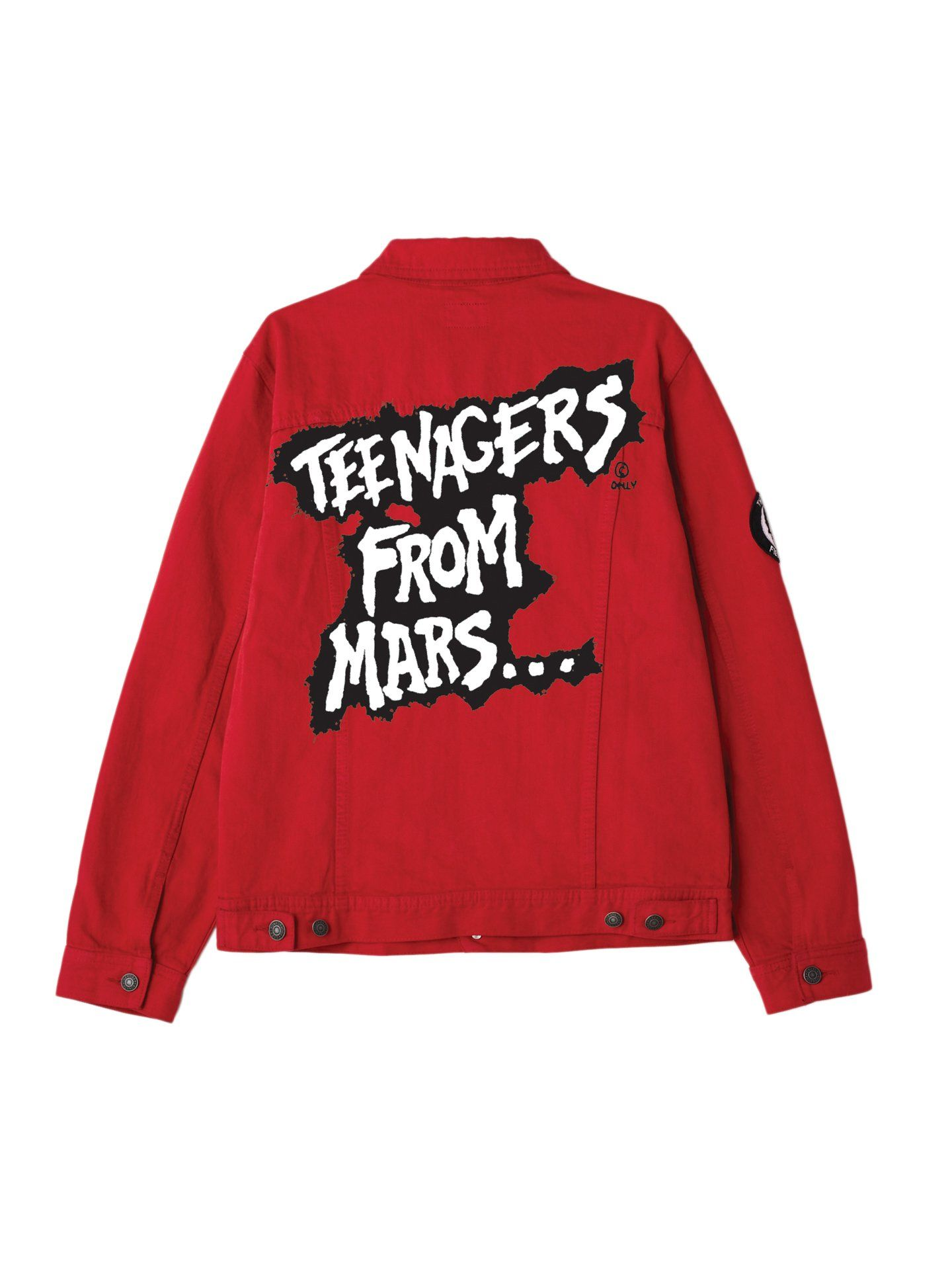206c13195761 obey x misfits teenagers from mars denim jacket red