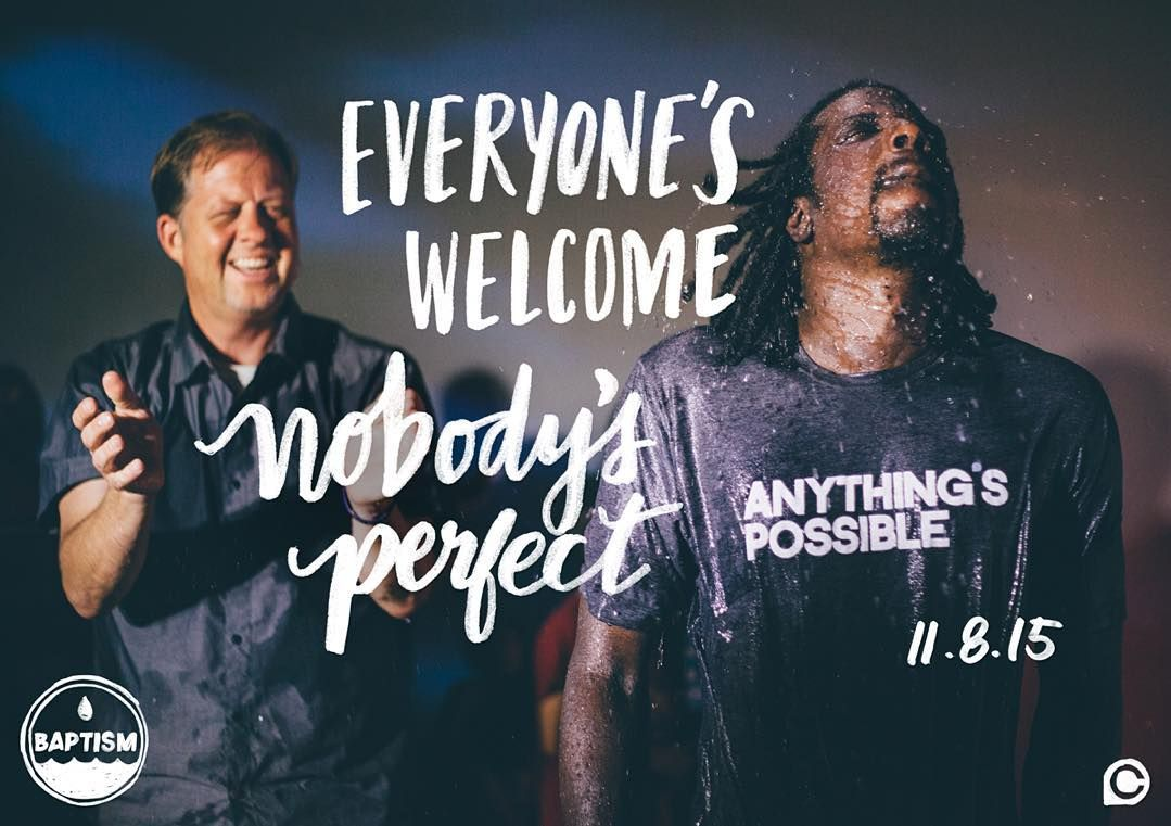 Because in Christ anythings possible. We cant wait to celebrate #BaptismSunday with you. Sign up at http://ift.tt/1uB9C4d & well see you tomorrow. by crosspoint_tv