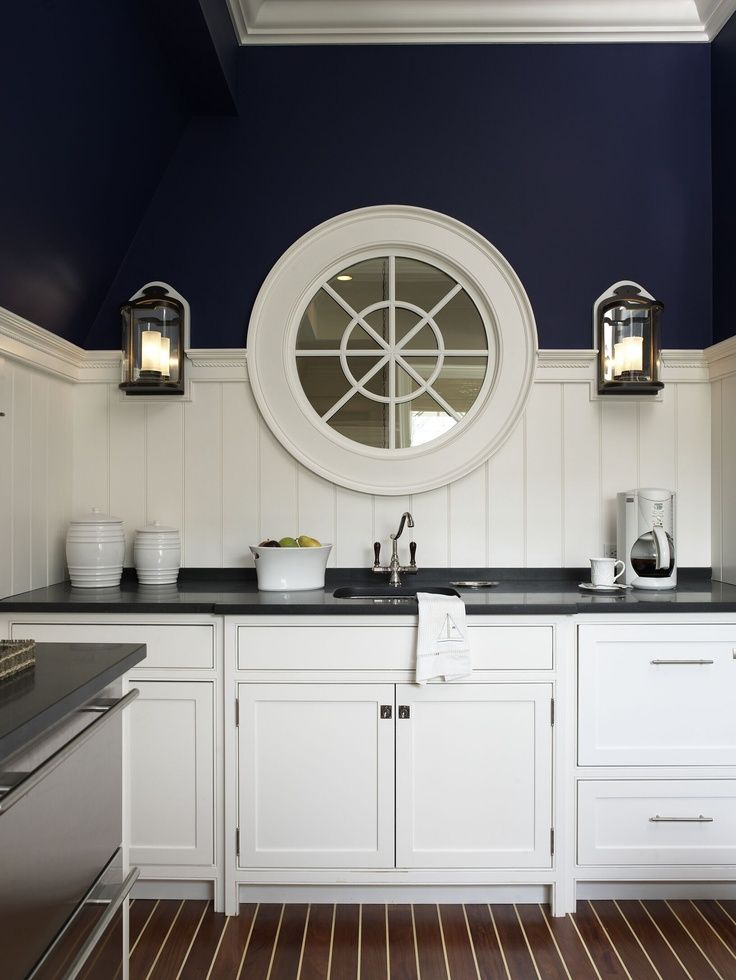 Nautical Vibe In The Kitchen Aftershocksinteriordecorating