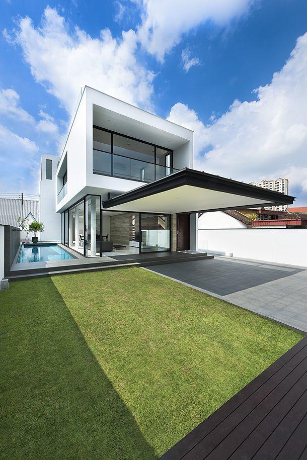 Elegante casa minimalista proyectada por park for Casa minimalista industrial