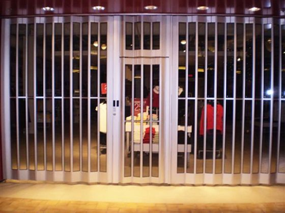 Swing Out Egress Door for Sliding Grille - Security folding and Sliding Grille -  & Swing Out Egress Door for Sliding Grille - Security folding and ...
