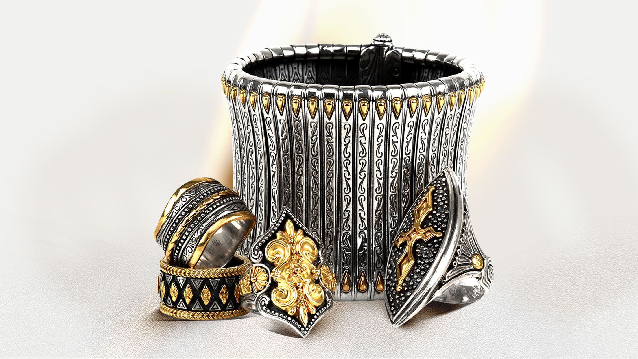 fine cuff and ring silver sterling bracelet francis pheadra cross gold products m konstantino