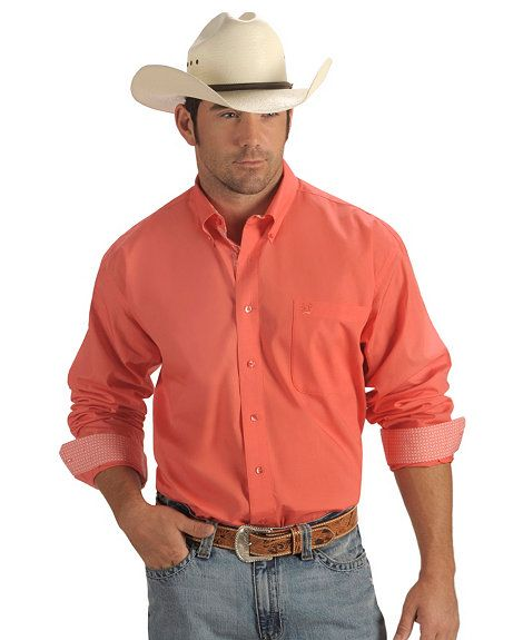 Cinch ® Coral Solid Weave Shirt | Cowboy Style | Pinterest ...