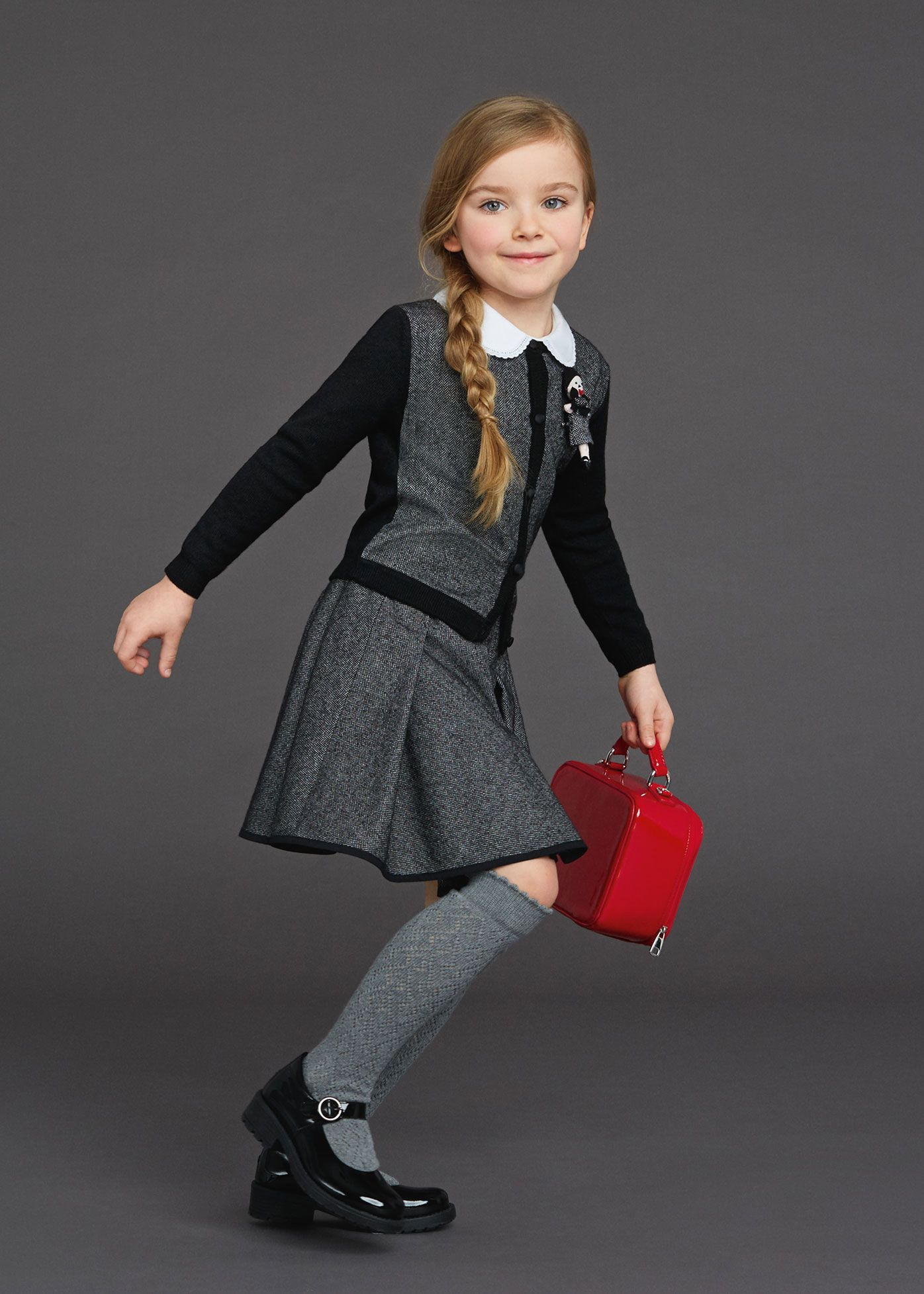5ed7f54d3 Back To School Dolce   Gabbana Winter 2016 Kids Clothes Best Looks ...