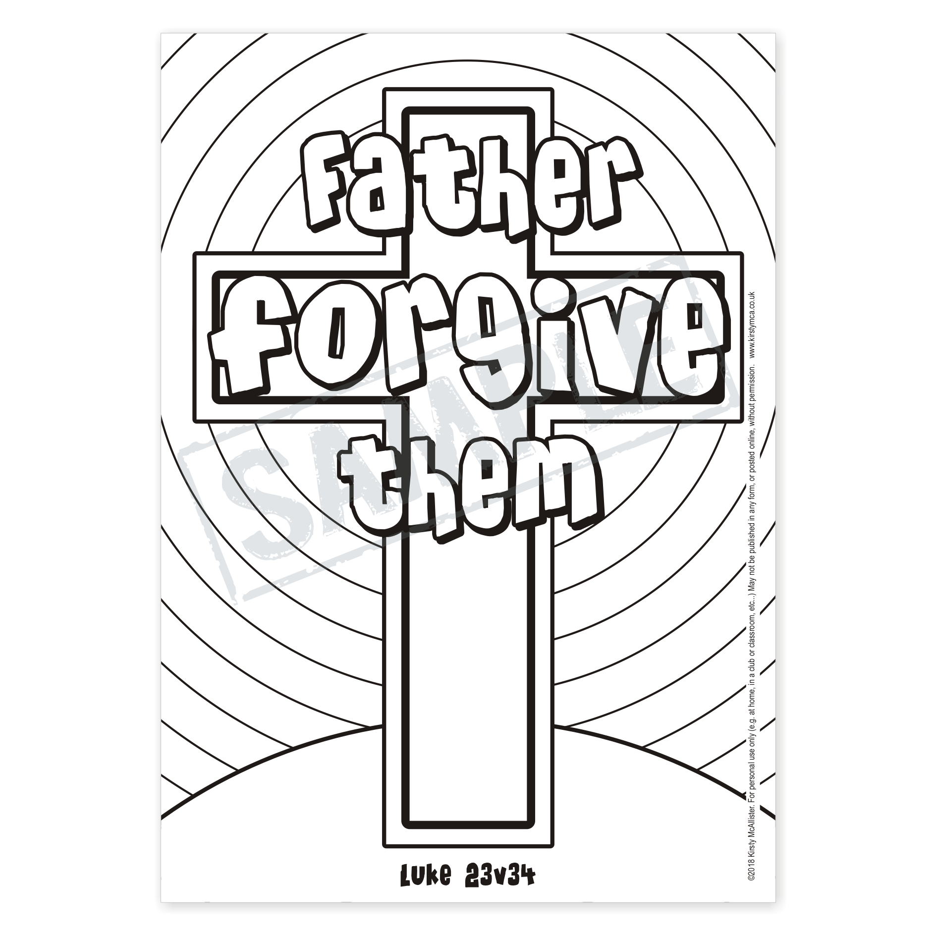 Father, forgive them // CROSS WORDS: 14 Christian