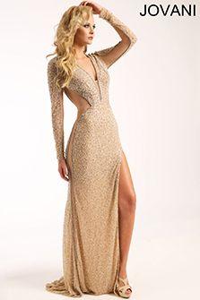 Long Sleeve Nude Dress 94215
