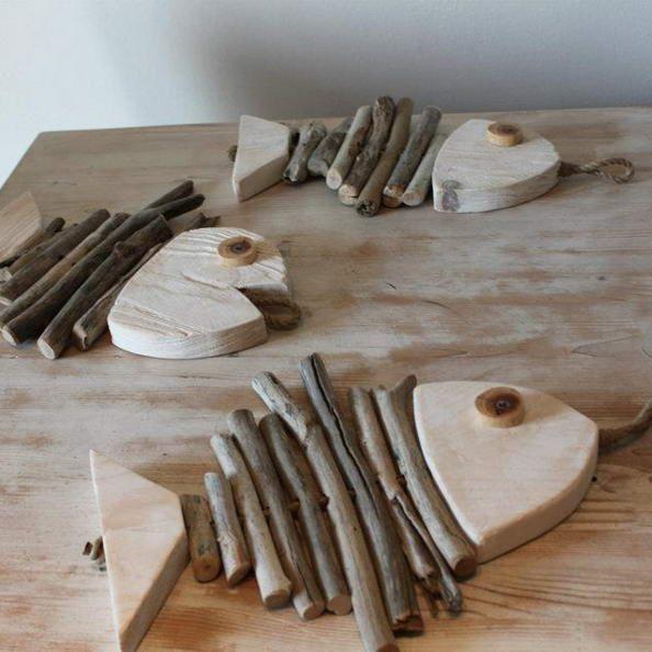 Hier sind 20 Ideen für die Dekoration von Meerholzdekorationen #ba … - Diydekorationhomes.club #woodcrafts