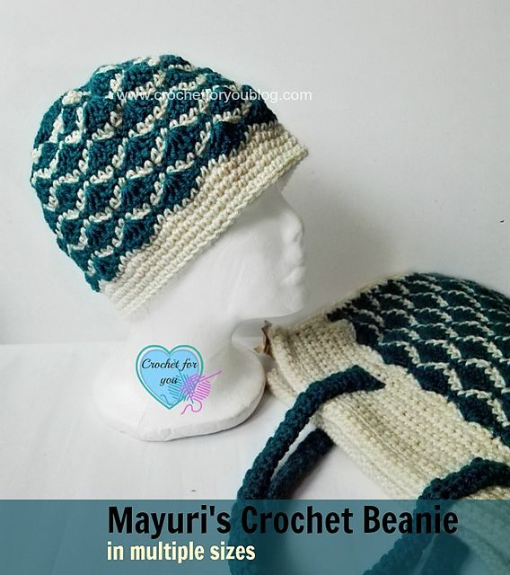 Mayuri\'s Crochet Beanie – free pattern | Crochet Wearables | Pinterest