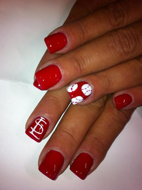 cardinals nails