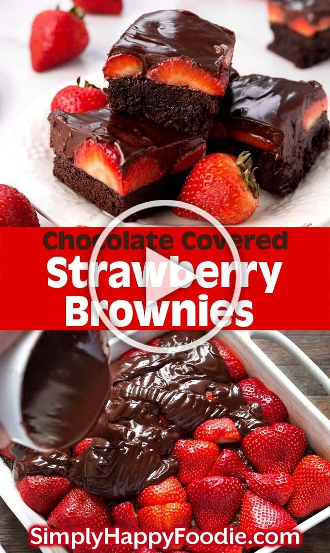 Chocolate Covered Strawberry Brownies are a delicious, chocolatey dessert recipe. If you like rich,